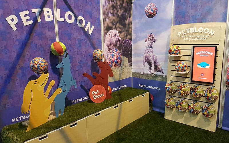 PetBloon Stand at PATS Telford, September 2017